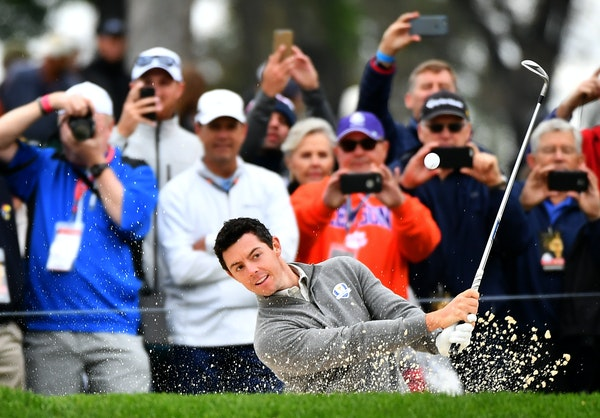 Rory McIlroy, practicing for Ryder Cup play at Hazeltine National on Wednesday, says Team Europe's camaraderie evolved without overthinking it.