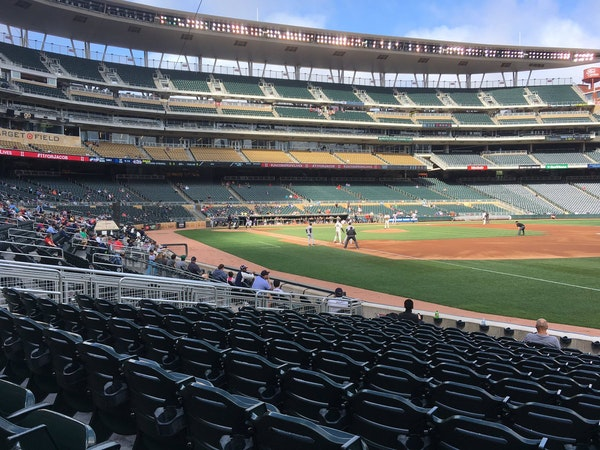 Target Field during the first inning of Thursday's make-up game against the Tigers.