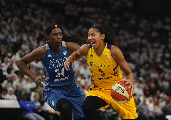 Lynx center Sylvia Fowles (34) hasn't decided how long she intends to play in the WNBA, but she's already preparing for her second career. She wan