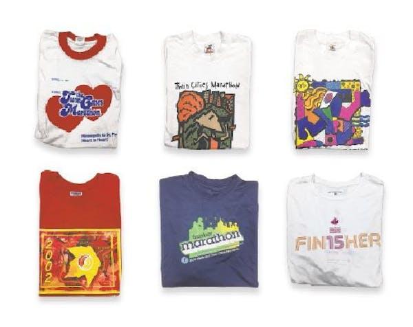 34 years of Twin Cities Marathon swag: Finisher shirts through the years