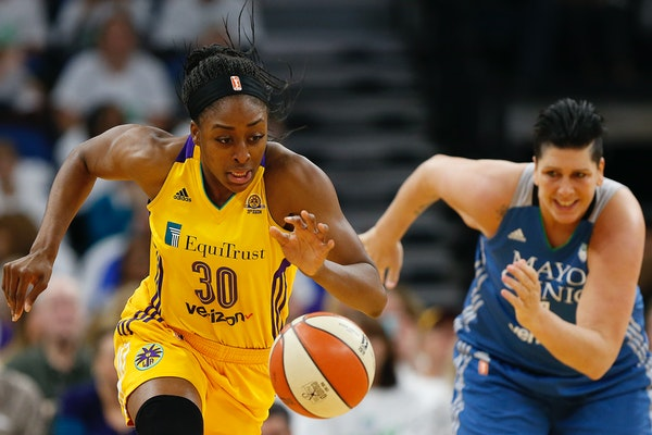 Los Angeles Sparks forward Nneka Ogwumike (30) shot 66.5 percent during the regular season, the second-best mark in WNBA history, and was eight of nin
