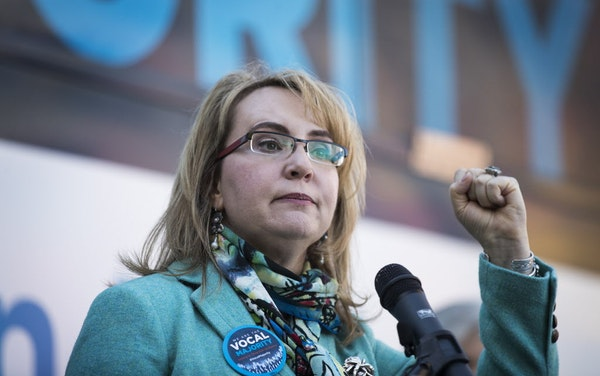 Former U.S. Rep. Gabrielle Giffords speaks during a kickoff event for gun violence prevention.