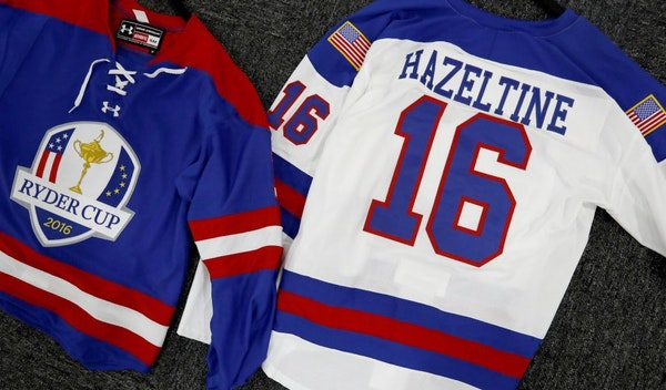 Ryder Cup Hockey Jerseys are available for purchase at the Ryder Cup Shops at Hazeltine National Golf Club.