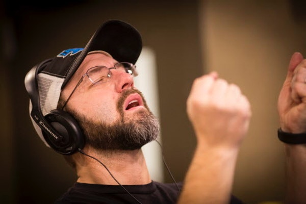 Chris Hawkey struggled to come up with an answer during a game between the DJs on the radio during the early morning show at KFAN's studio in December