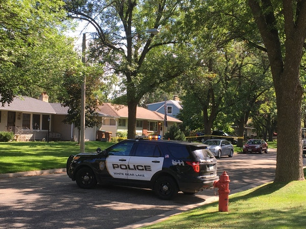 White Bear Lake police and Bureau of Criminal Apprehension investigators remained on the scene of a death in White Bear Lake Tuesday afternoon.