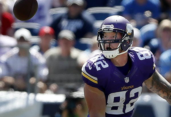 In a very short amount of time, veteran Vikings tight end Kyle Rudolph appears to have built a great relationship with new quarterback Sam Bradford. �