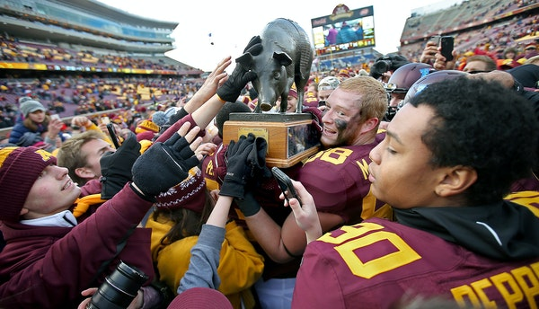 Hoisting the Floyd of Rosedale statue, as the Gophers did in 2014, would be a point of pride — but bigger things are at stake Saturday.