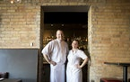 Chefs Charles Stotts and Kacey White at the Town Talk Diner.