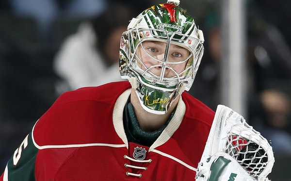 """On a one-year contract, Darcy Kuemper begins the season as the backup goalie to Devan Dubnyk. """"I just want to help this group win,"""" Kuemper said."""