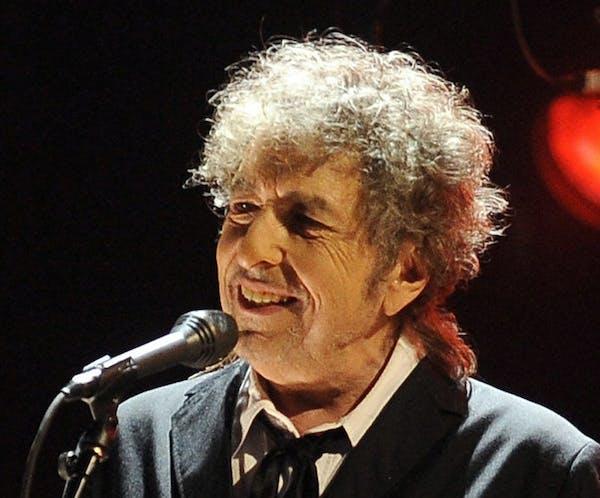 Bob Dylan performs in Los Angeles, Jan. 12, 2012.
