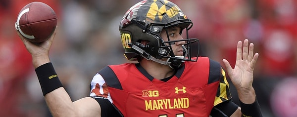 Maryland quarterback Perry Hills (11) throws a pass during the first half of an NCAA college football game against Howard, Saturday, Sept. 3, 2016, in
