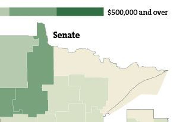 Campaign spending by legislative district