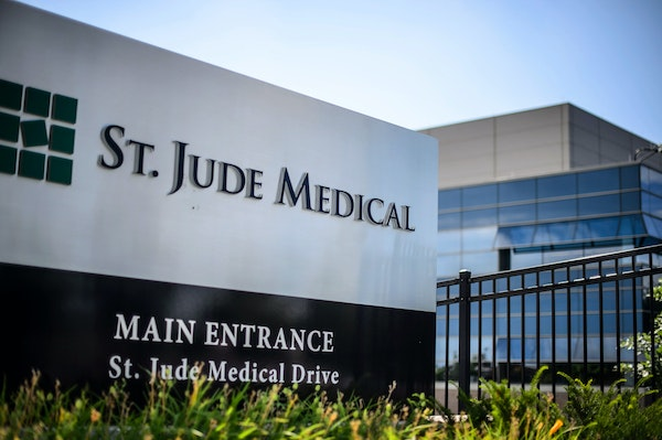 St. Jude Medical's corporate headquarters are located in Little Canada.