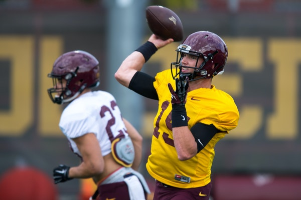 Junior Conor Rhoda has played in three games with the Gophers, completing one pass for 6 yards.