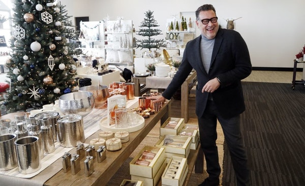 Mark Tritton, Target's chief merchandising officer, shows off some of Target's holiday offerings during a walk-through that featured gift displays