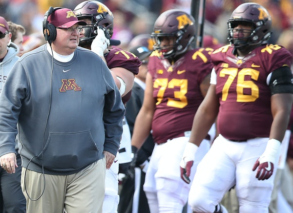 Tracy Claeys says Gophers got 'whipped up front'