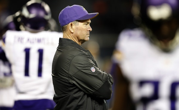 Vikings coach Mike Zimmer was back at work Tuesday afternoon following a minor medical procedure.