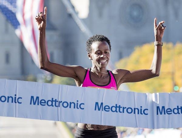 Jane Kibii won the women's TC Marathon with a time of 2:30:01.