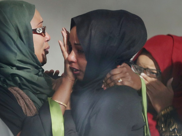 Following the sentencing of Hanad Musse to 10 years in prison and 20 years supervised release, supporters of Musse became emotional.