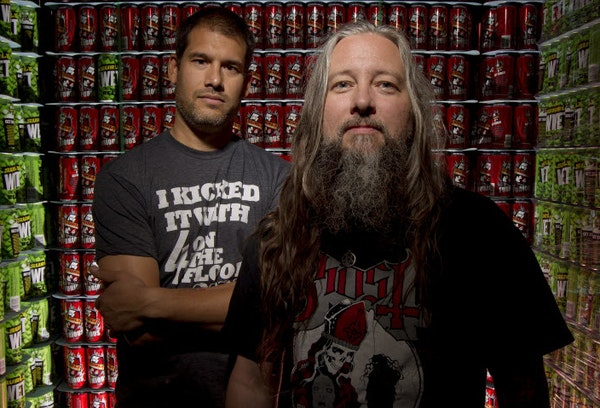 Todd Haug, right, is stepping down from Surly Brewing. He's shown here with Omar Ansari, founder and president of Surly.