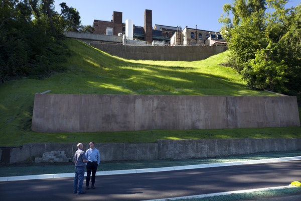 New retaining walls have been installed along West River Parkway in Minneapolis.