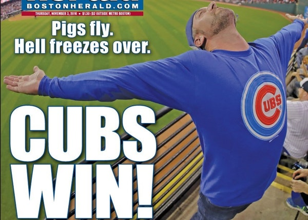 Front pages: Celebrating the Cubs and their World Series title