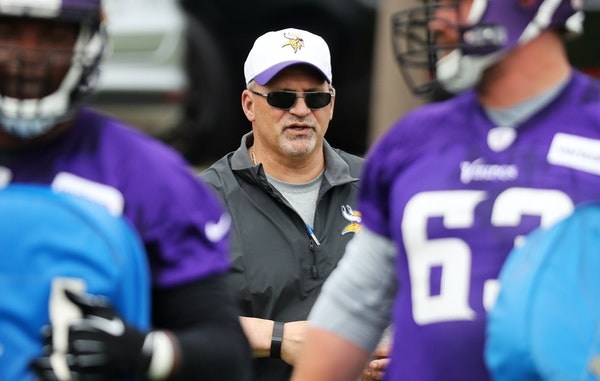 Vikings offensive line coach Tony Sparano takes over an experienced group that has been challenged to be tougher mentally.
