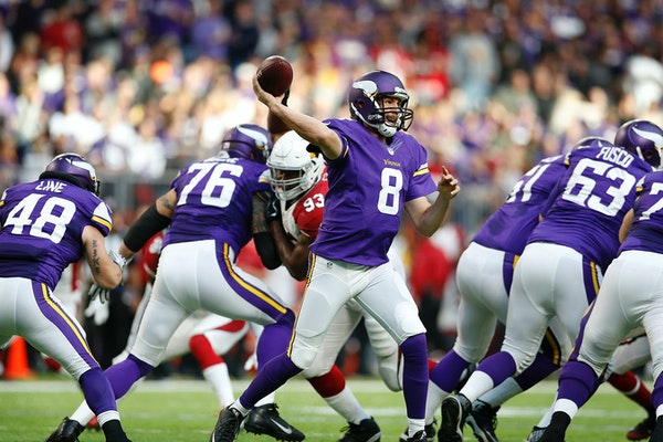 Minnesota Vikings quarterback Sam Bradford has worked with Pat Shurmer as part of two different teams.