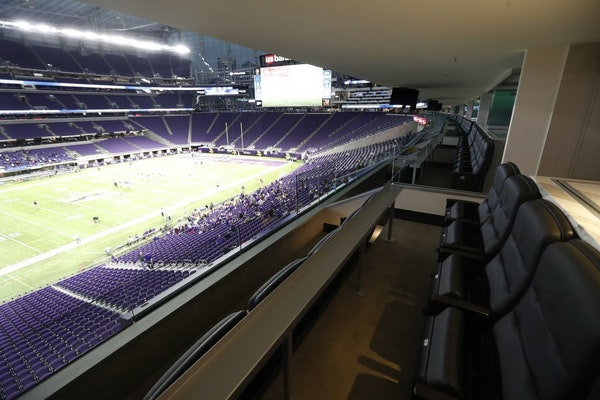Minnesota Sports Facilities Chair Michele Kelm-Helgen controls two lower level suites at U.S. Bank Stadium with almost 40 available seats per game or