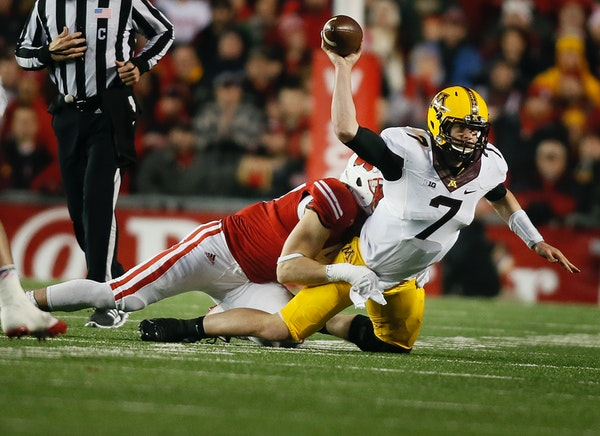 Gophers quarterback Mitch Leidner has never beaten Wisconsin, though Minnesota has consistently outplayed the Badgers.