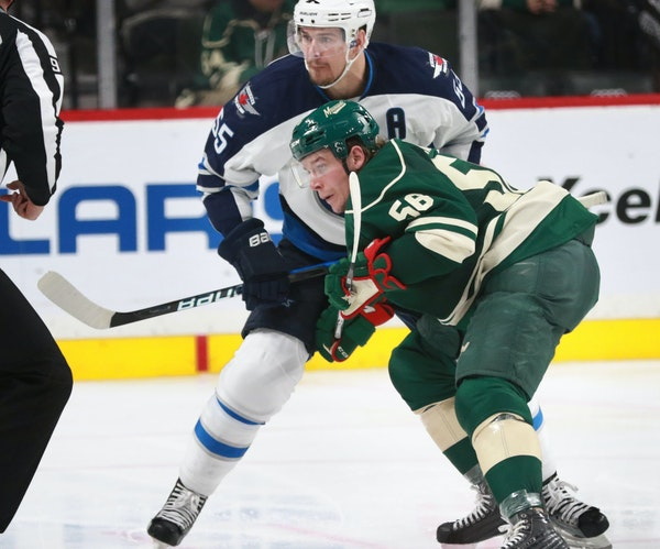 Center Erik Haula, who had one goal and one assist in the Wild's first four games, could return to the lineup Friday at Pittsburgh. He has missed th