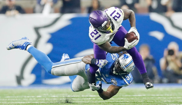 Vikings running back Jerick McKinnon rushed for 31 of the Vikings' 82 yards, some of it from the Wildcat formation.
