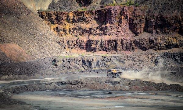 This is the Minntac taconite mine in Mountain Iron, Minn.