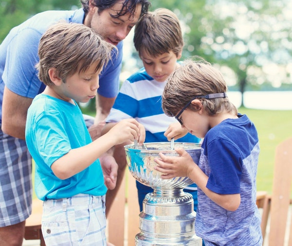 Matt Cullen's three sons ate Lucky Charms out of the Stanley Cup this summer.