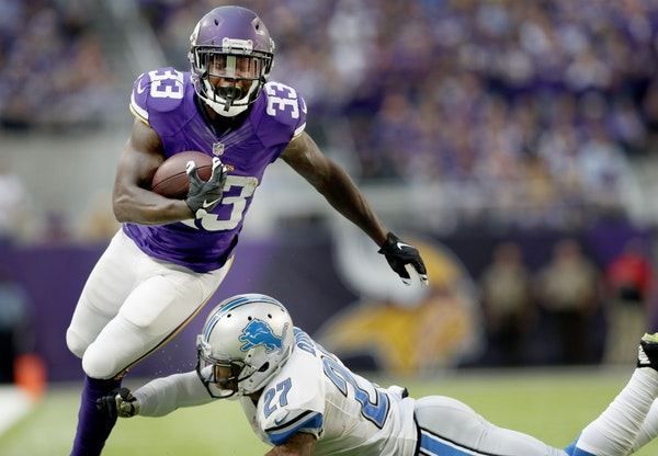 Running back Ronnie Hillman was waived by the Vikings on Monday.