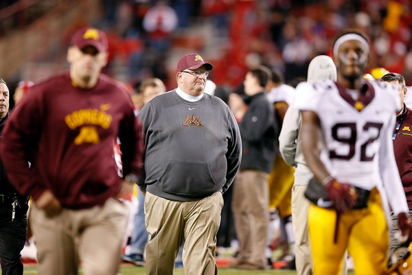 The future of Gophers football coach Tracy Claeys could be on the line Saturday.