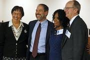 Mary Vanderwert, left, Steve Marchese, Zuki Ellis and Jon Schumacher ran for school board under a Caucus for Change banner.