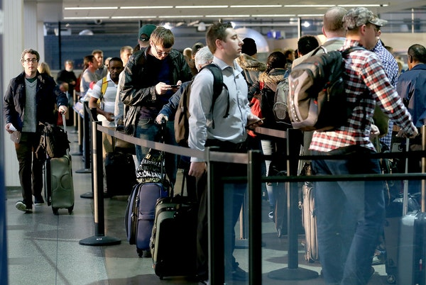 Wait for it: Passengers winding through security at MSP Airport this Thanksgiving are projected to increase 6.5%.