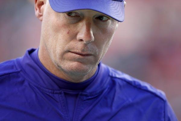 Minnesota Vikings interim offensive coordinator Pat Shurmur.