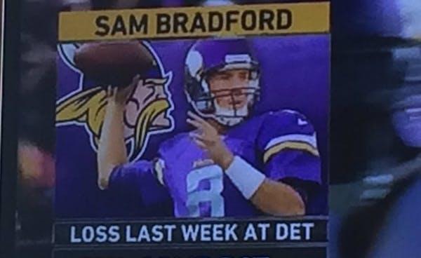 Another FOX fail: Now it looks like Bradford's head on Matt Cassel's body