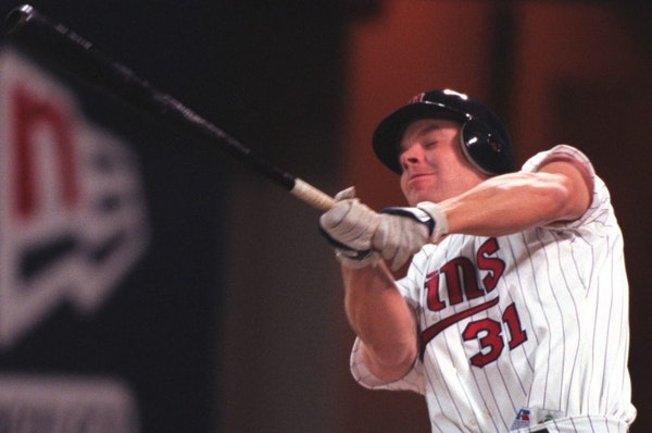 Chad Allen as a rookie with the Twins