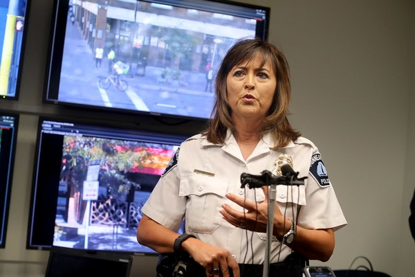 Chief Janee Harteau met with those involved after the incident.