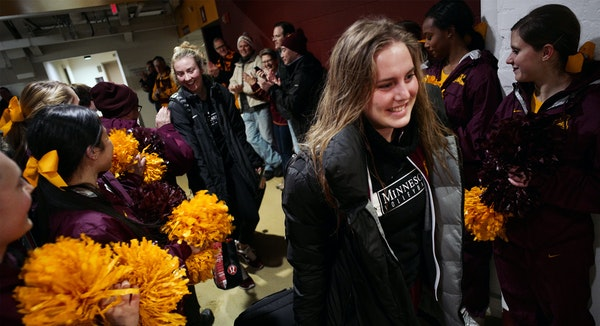 Gophers volleyball players left the Sports Pavilion on Tuesday for the Final Four in Columbus, Ohio.