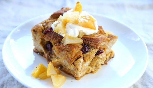 Pumpkin Cranberry Breakfast Bake.