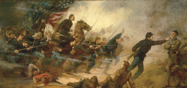 """The decision over the fate of """"The Fifth Minnesota Regiment at Corinth"""" by Edwin Blashfield and other controversial paintings comes as a $310 million"""