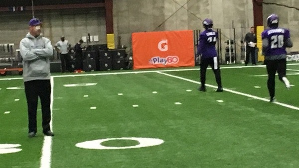 Mike Zimmer at Tuesday's practice.