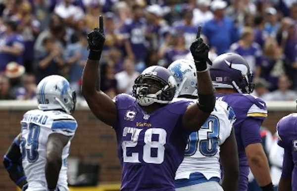Adrian Peterson, 31, is eligible to be brought off injured reserve, although his return does not appear imminent since he still has yet to practice.