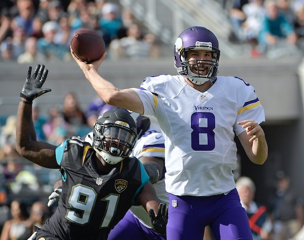 Sam Bradford has completed 71.6 percent of his passes, on pace to break the NFL record, but averages just 6.9 yards per pass.