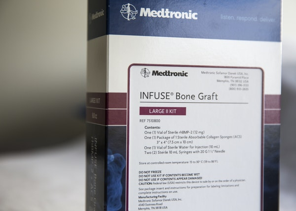 """Medtronic says the claims against its Infuse product, above, are """"baseless."""""""