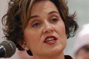 Minneapolis Mayor Betsy Hodges, shown announcing that she is seeking a second term as mayor.